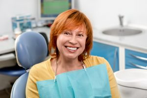 Senior woman in the dental office